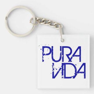 Acrylic Blue Pura Vida Keychain