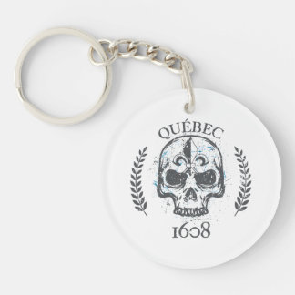 acrylic Carry-key Quebec biker skull/skull Keychain