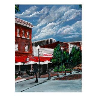 Acrylic cityscape painting modern art Columbus GA Postcard