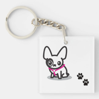 Acrylic French bulldog key chain