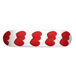Acrylic heart shape miniature skate board decks