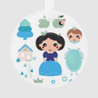 Acrylic Ornament with Prince and Princess