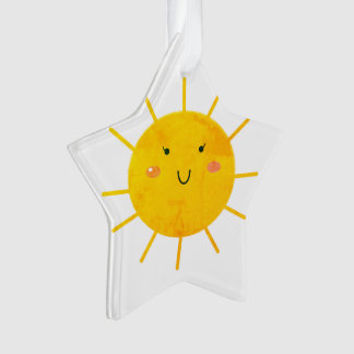 Acrylic ornament with Yellow Sun