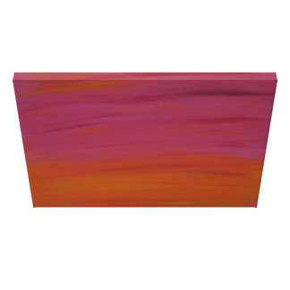 Acrylic Painting: Pink and Orange Sunset Canvas Print