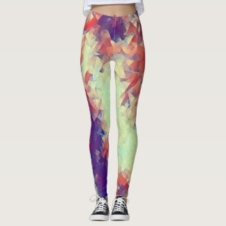 Acrylic Polygon Rave Love Leggings