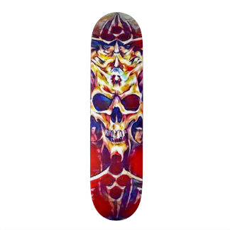 Acrylic Reaper Skull Element Custom Pro Park Board Skate Board Deck