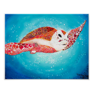 Acrylic Sea Turtle Print