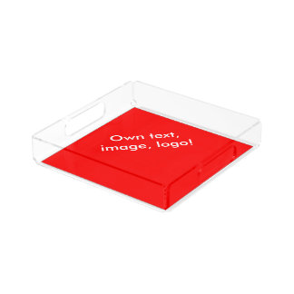 Acrylic Serving Tray uni Red