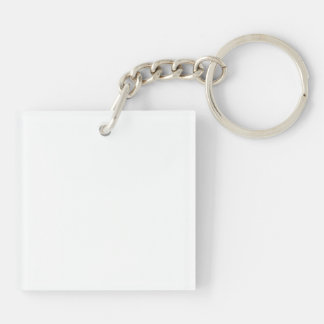 Acrylic Square (single-sided) Keychain