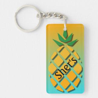 Acrylic Tropical Pineapple Key Chain