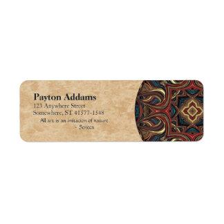 Acrylic Vision Mandala Return Address Avery Label