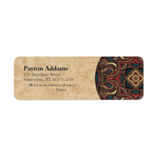 Acrylic Vision Mandala Return Address Avery Label Return Address Label