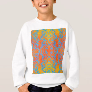 Acryllic Abstract Orange and Blue Trippy Pattern Sweatshirt