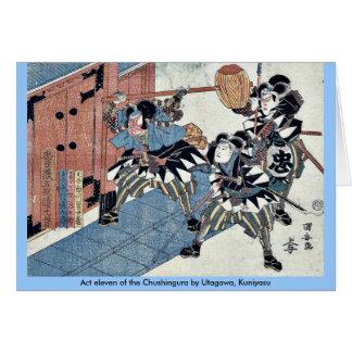 Act eleven of the Chushingura by Utagawa, Kuniyasu Card