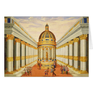 Act I, scenes VII and VIII: Baccus' Temple Greeting Card