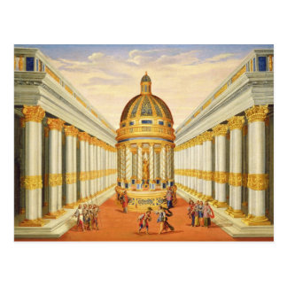 Act I, scenes VII and VIII: Baccus' Temple Postcard