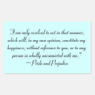 Act in Manner to Constitute Happiness Jane Austen Sticker