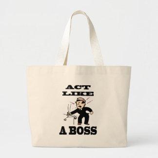 act like a boss jumbo tote bag