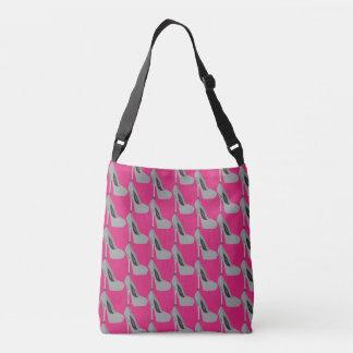 Act like a lady, but think like a boss crossbody bag