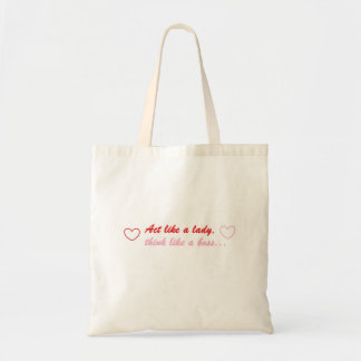 Act Like A Lady Think Like A Boss Grocery Tote Tote Bags