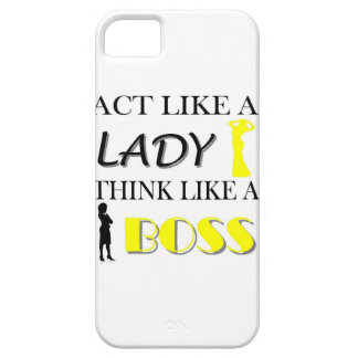 Act Like A Lady Think Like A BOSS iPhone 5 Case