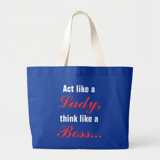 Act Like A Lady Think Like A Boss Jumbo Tote Bag