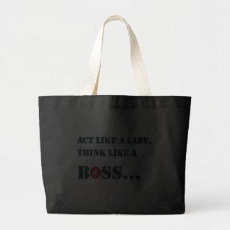 Act Like A Lady Think Like A Boss Jumbo Tote Tote Bag