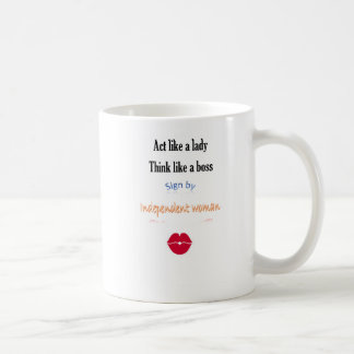 Act like to lady mug