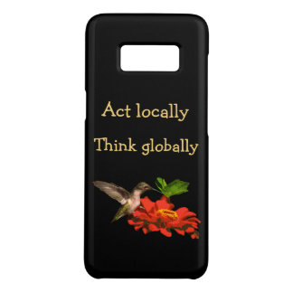 Act Locally Think Globally Galaxy S8 Case
