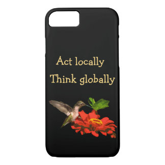 Act Locally Think Globally iPhone 8/7 Case