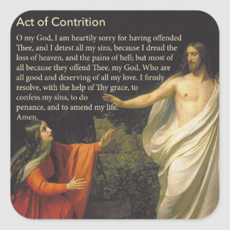 Act of Contrition Prayer Sticker