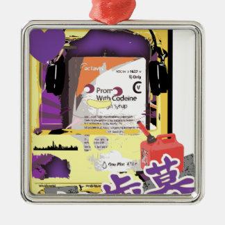 Act Right Silver-Colored Square Ornament