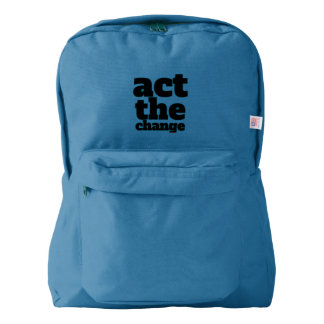 Act the Change, Change - Font & Color Customizable Backpack