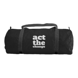 Act the Change, Change - Font & Color Customizable Gym Bag