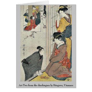 Act Two from the chushingura by Kitagawa, Utamaro Card