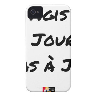 ACTED the D-DAY, not with J+1 - Word games iPhone 4 Case