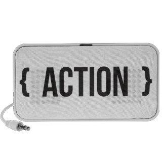 Action - Bracketed - Black and White Mini Speaker