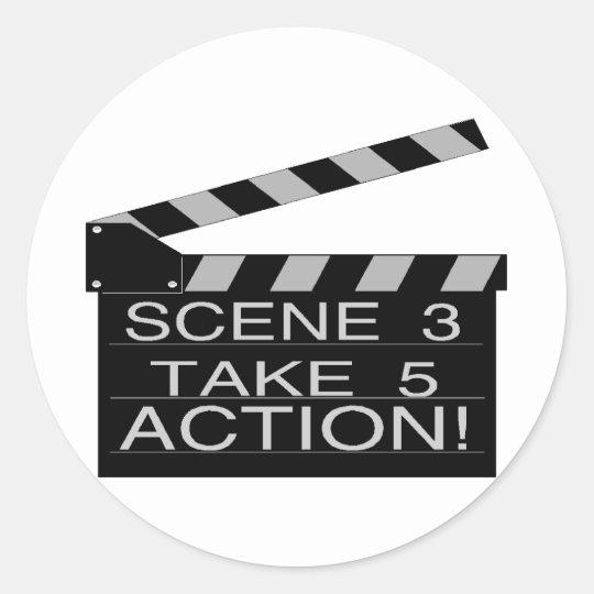 Action Classic Round Sticker