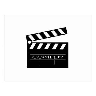 Action - comedy movie. postcard
