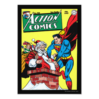 "Action Comics #105 5"" X 7"" Invitation Card"