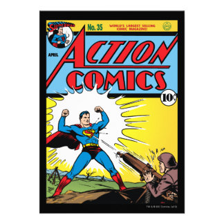 Action Comics #35 Custom Invites