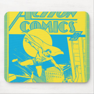 Action Comics Superman saves Mouse Pad