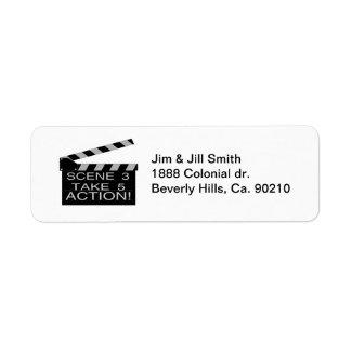 Action Directors Clapboard Return Address Label