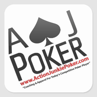 Action Junkie Poker Square Sticker