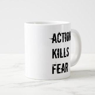 Action Kills Fear Jumbo Coffee Mug