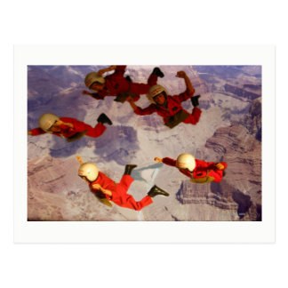 Action Man Freefall card. Postcard