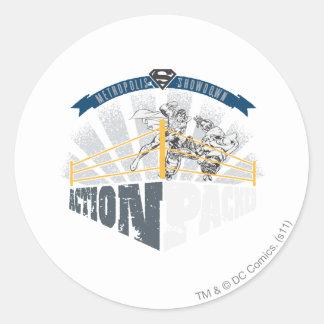 Action Packed Round Sticker