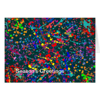 Action Painting Splatter Art, Season's Greetings Card