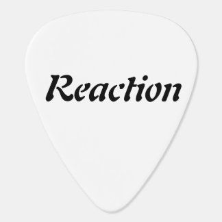Action / Reaction - Guitar Pick