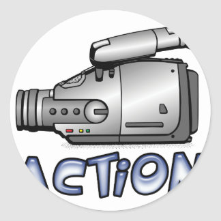 Action Round Sticker